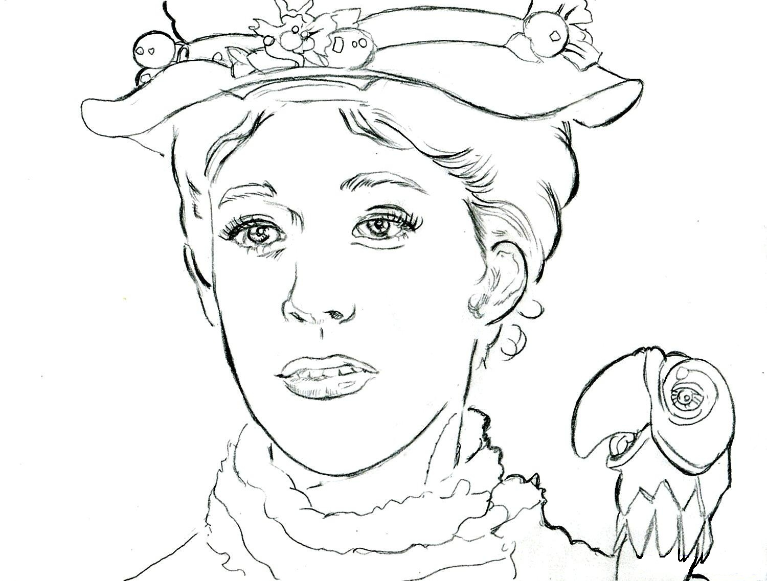 14 kids coloring pages mary poppins