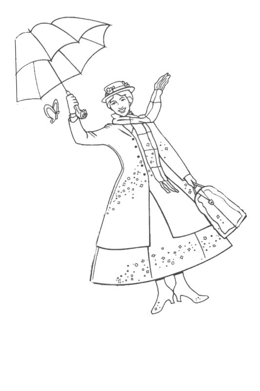 printable pictures of mary-poppins page,printable,coloring pages