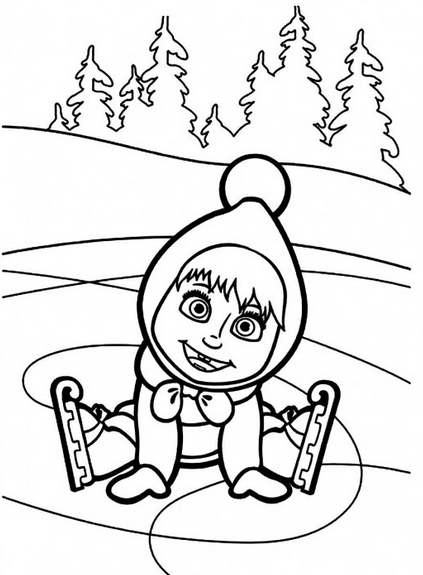masha-and-the-bear coloring pages 13,printable,coloring pages