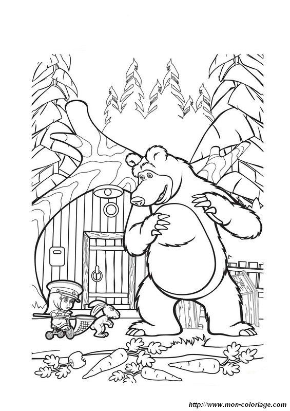 masha-and-the-bear coloring pages printable,printable,coloring pages