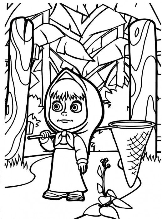 printable pictures of masha-and-the-bear page,printable,coloring pages