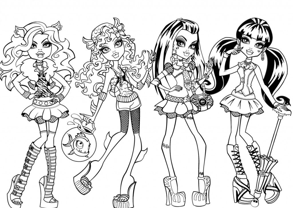 coloring pages of monster-high,printable,coloring pages