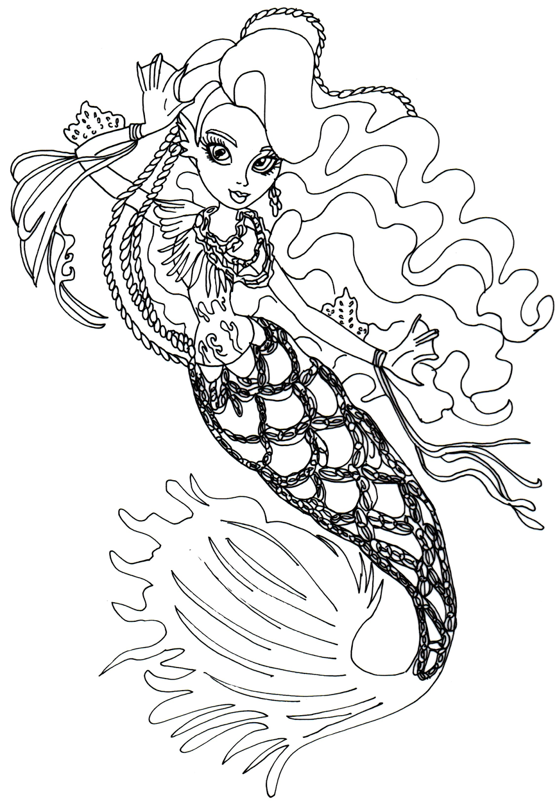 13 monster high coloring pages printable print color craft for Monster high color pages free