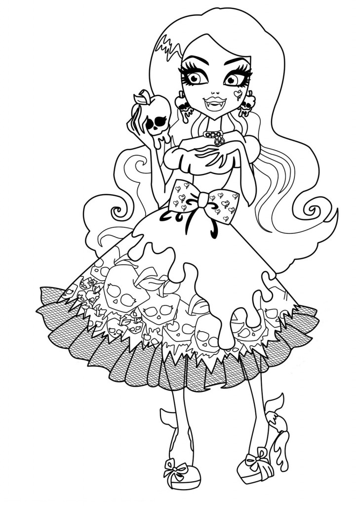 monster-high coloring page,printable,coloring pages