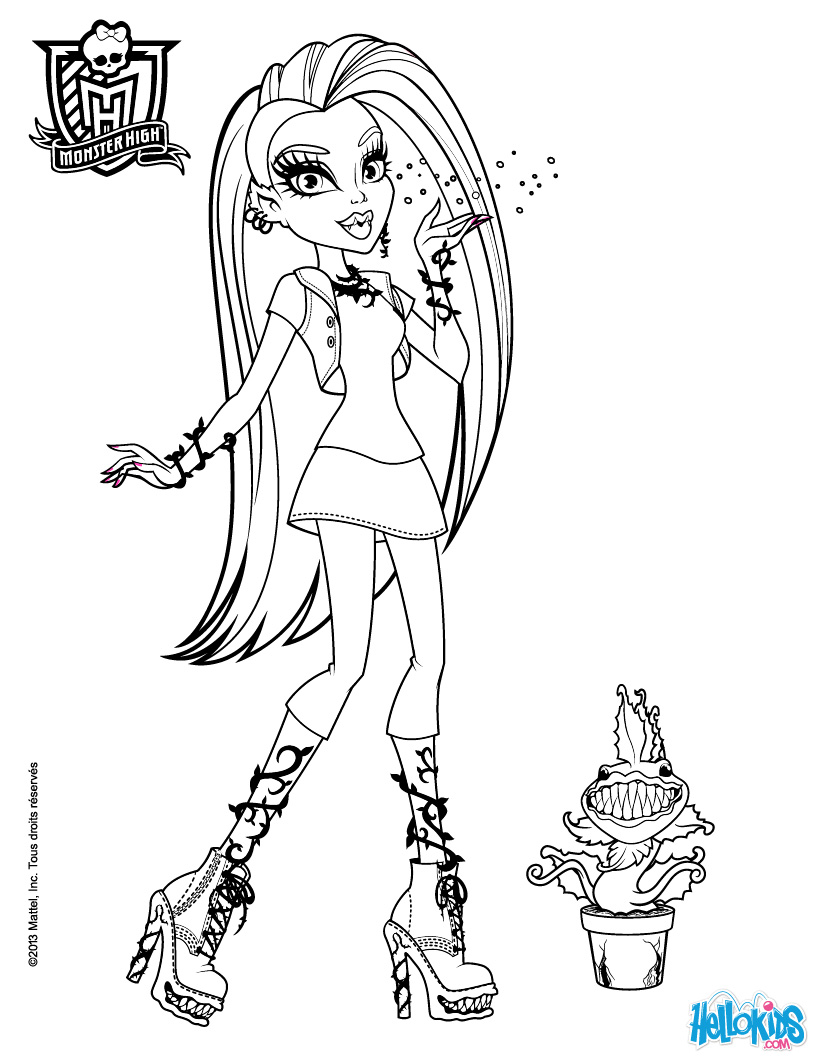 monster-high coloring page to print,printable,coloring pages