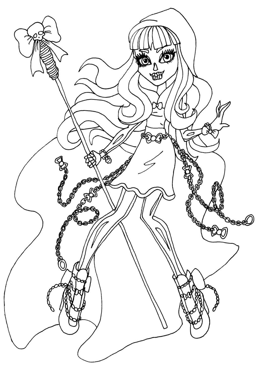 13 monster high coloring pages printable print color craft for Print monster high coloring pages