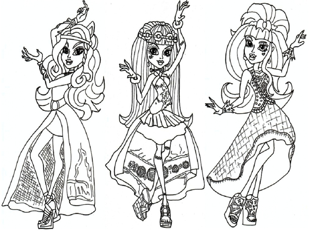 monster high coloring pages for kidsprintablecoloring pages - Monster High Coloring Pages