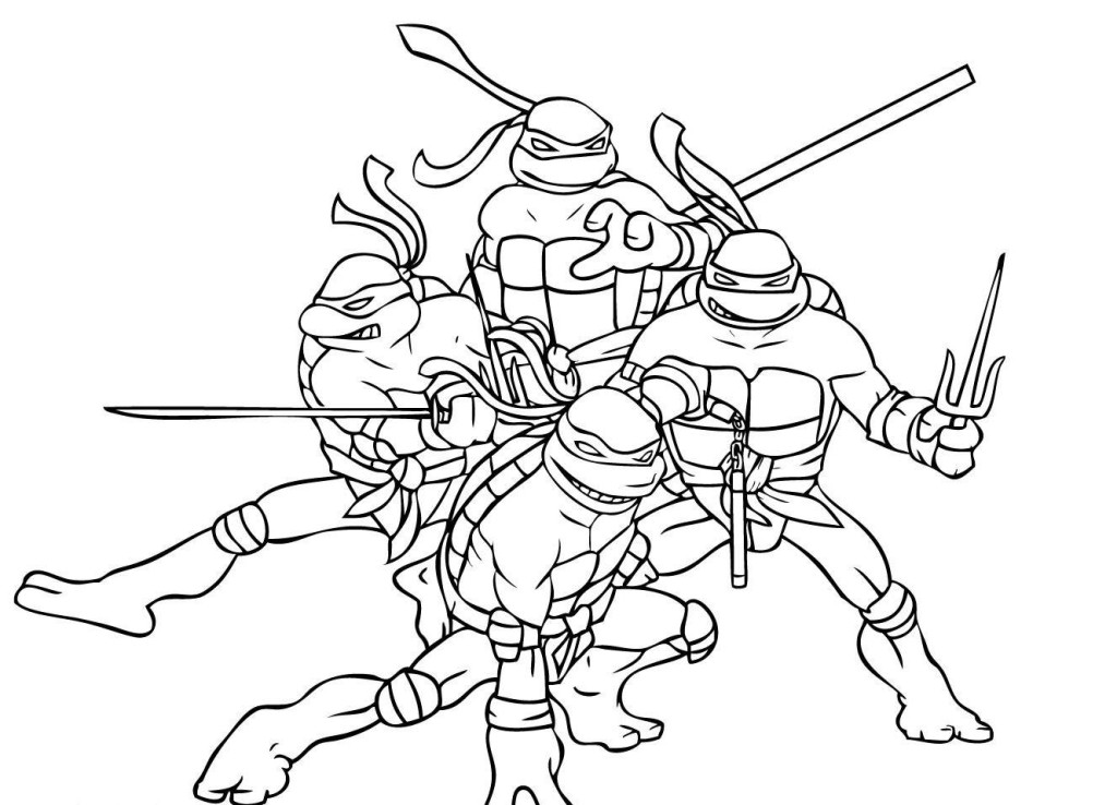 girl ninja turtles coloring pages - photo#19