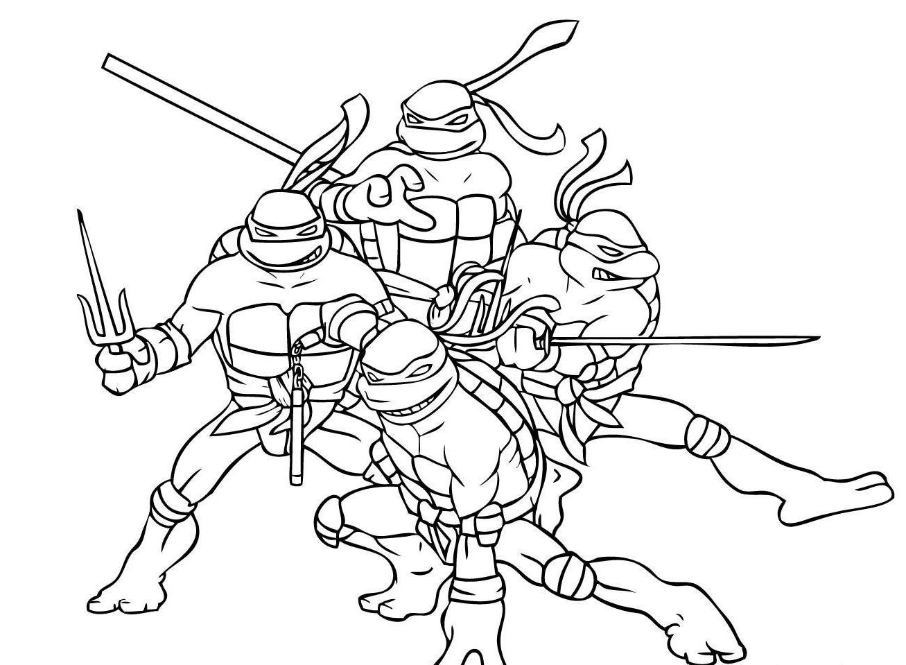 girl ninja turtles coloring pages - photo#30