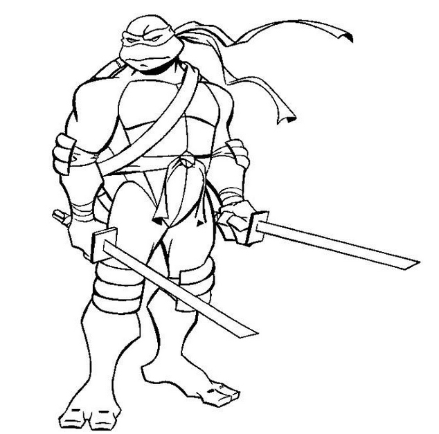 Coloring Pages Ninja Turtles : Ninja turtles coloring page to print color craft