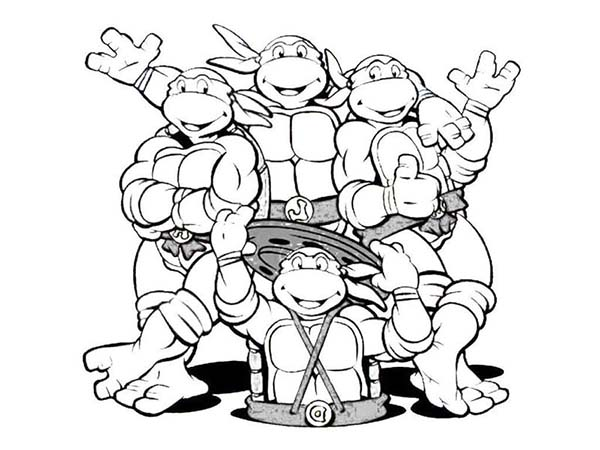 ninja coloring pages for adults - 15 ninja turtles coloring page to print print color craft