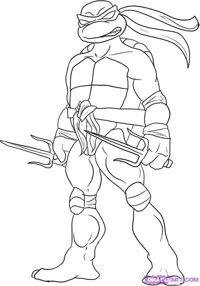 15 ninja turtles coloring page