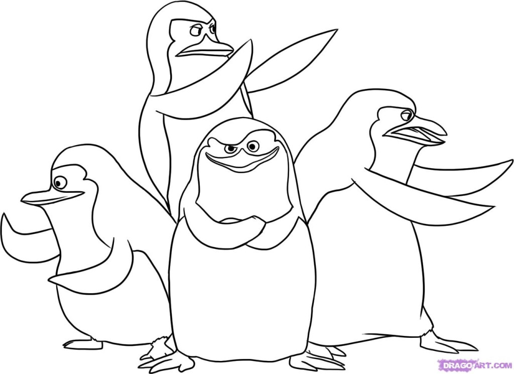 cartoon penguins coloring pages - photo#48