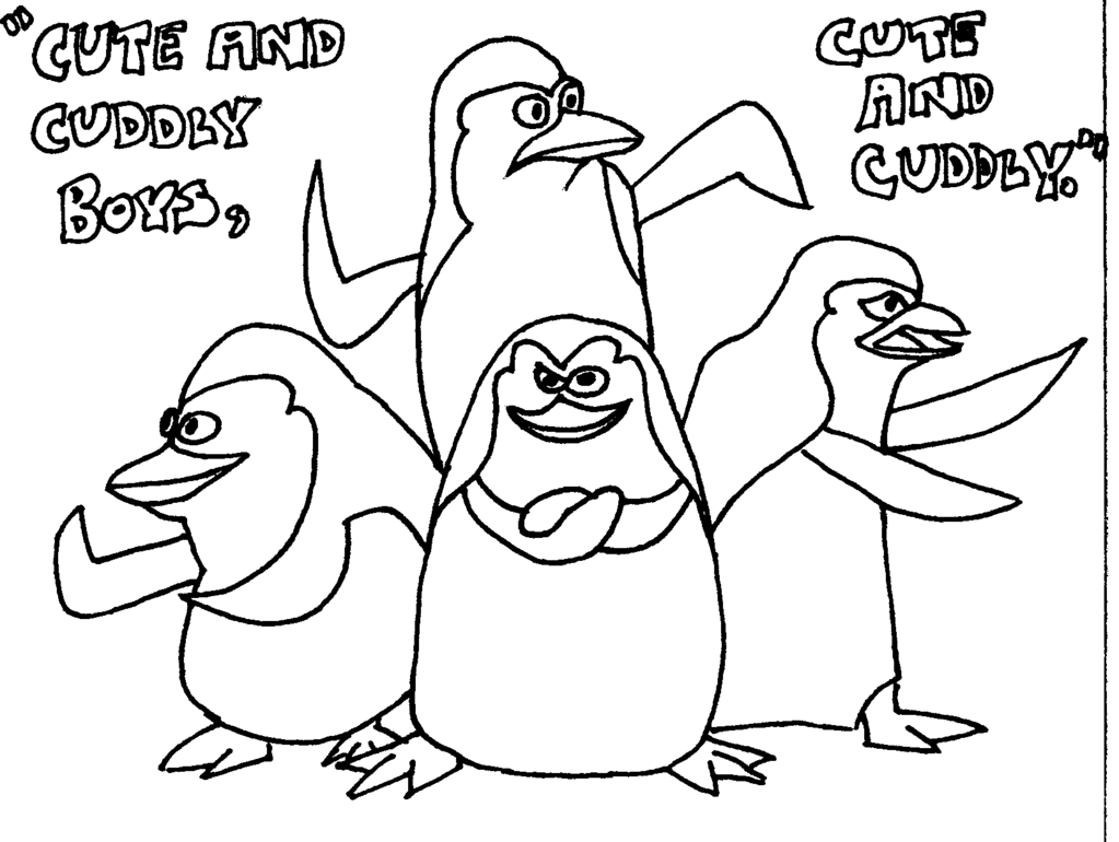Madagascar: Penguins of Madagascar coloring pages | Print Color Craft