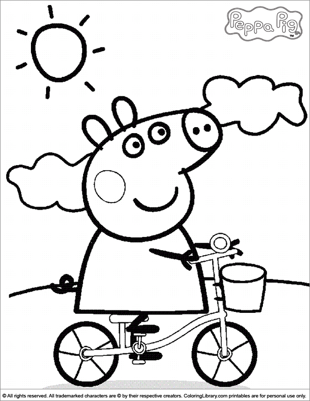 coloring pages of peppa-pig,printable,coloring pages