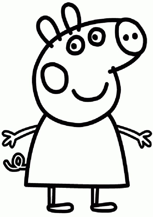 15 peppa pig coloring page to print | Print Color Craft