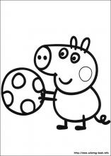 peppa-pig coloring page,printable,coloring pages