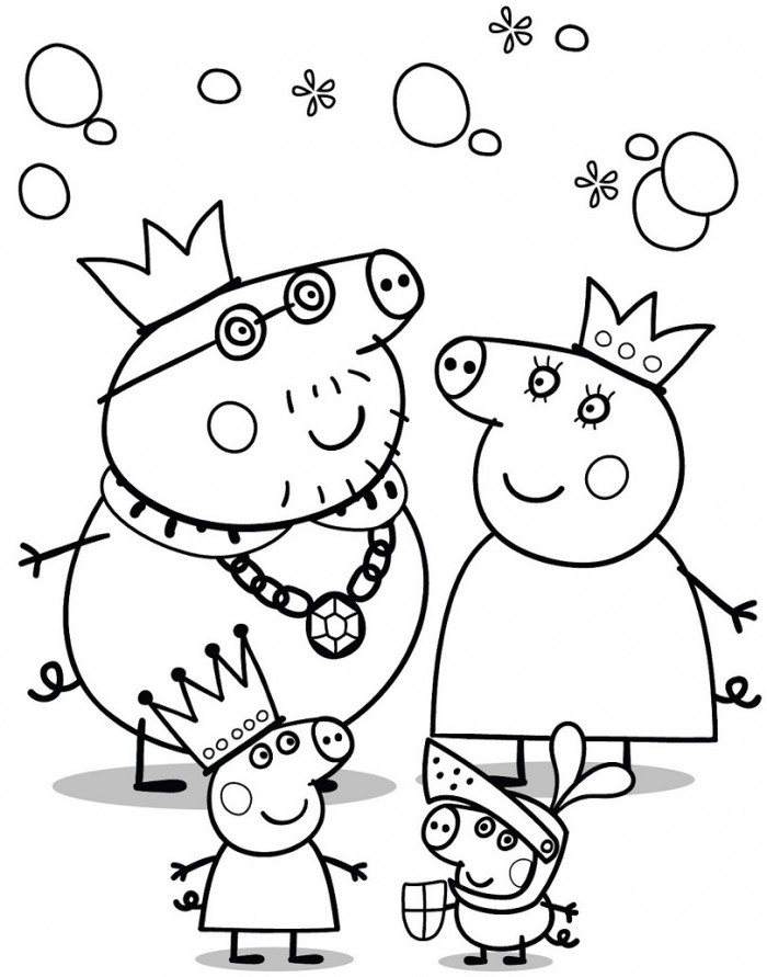 peppa-pig coloring pages,printable,coloring pages
