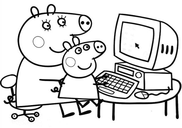 peppa-pig coloring pages 12,printable,coloring pages