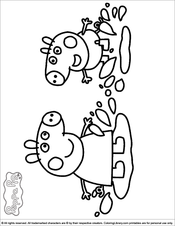 peppa-pig coloring pages 13,printable,coloring pages