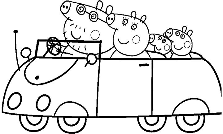 15 peppa pig coloring page to print Print Color Craft