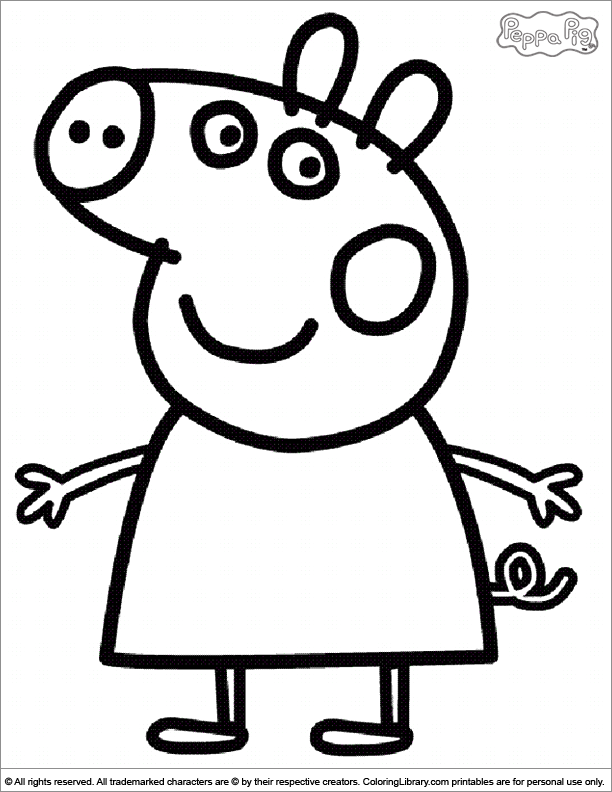 15 peppa pig coloring page to print print color craft for Coloring pages peppa pig