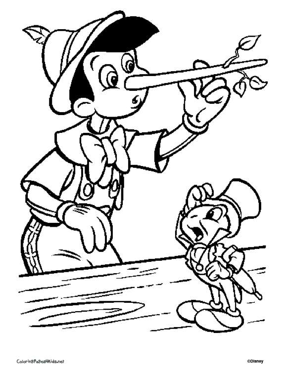 Carved out of wood 15 Pinocchio coloring pages and pictures