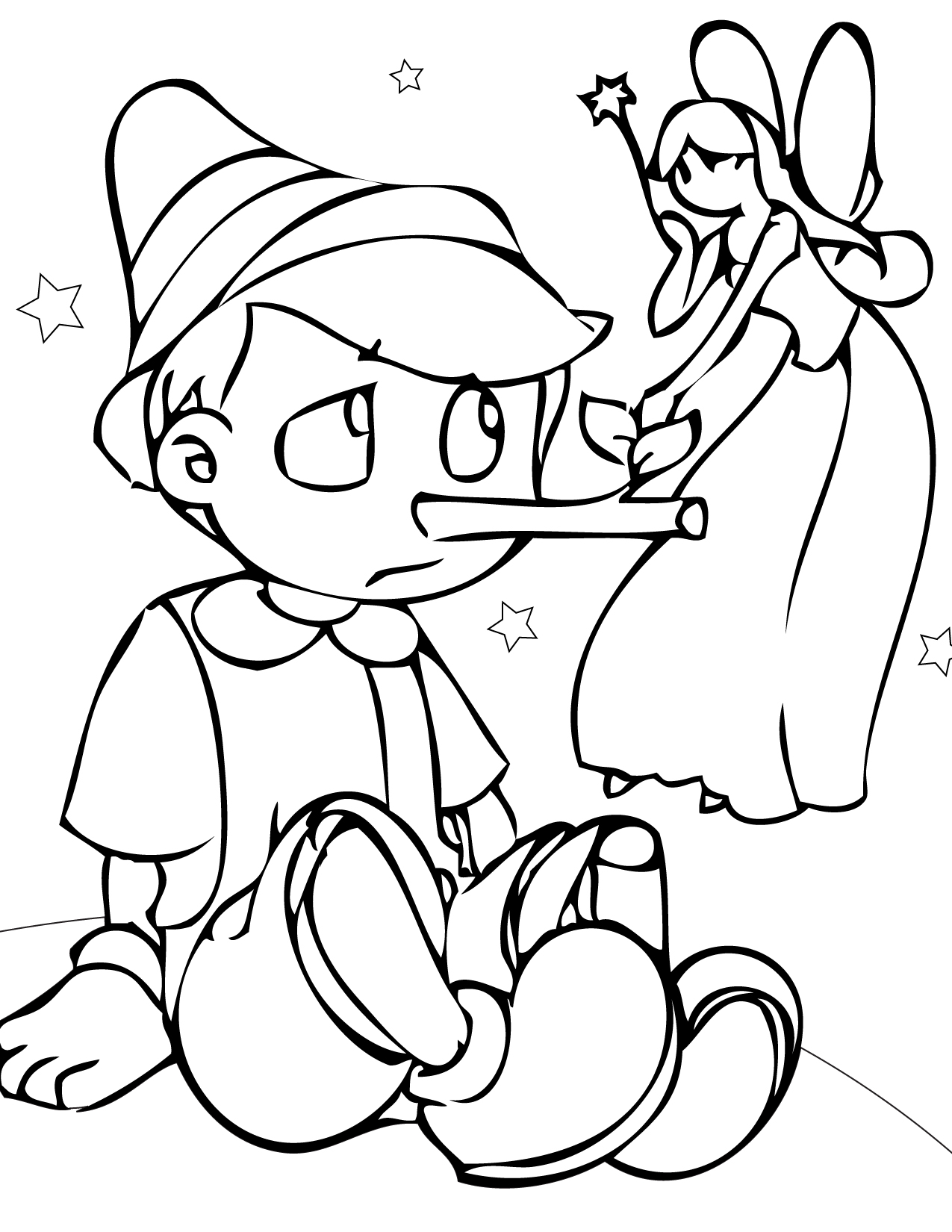 pinocchio coloring page to print,printable,coloring pages