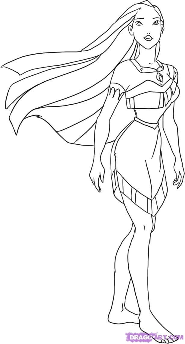 coloring pictures pocahontas,printable,coloring pages