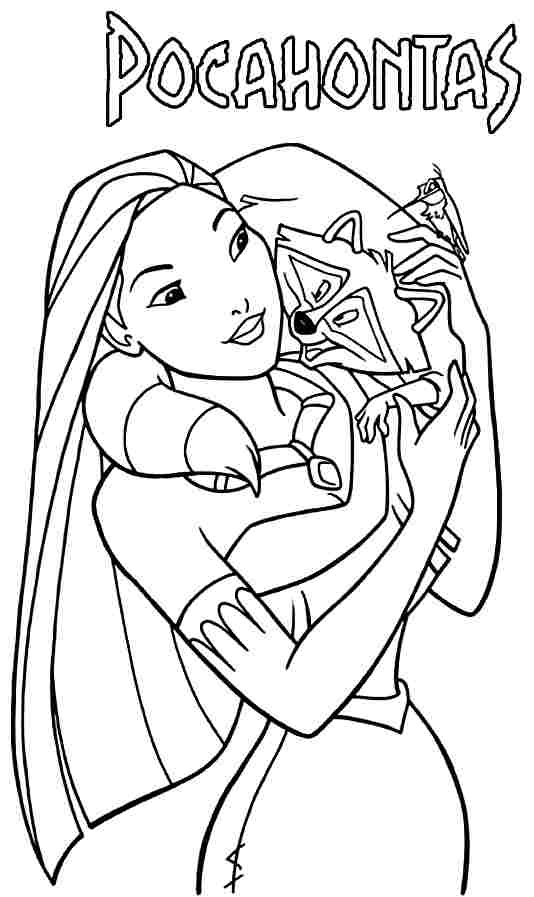 14 Printable Pocahontas Coloring Pages