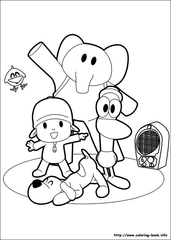 pocoyo coloring pages - photo#32
