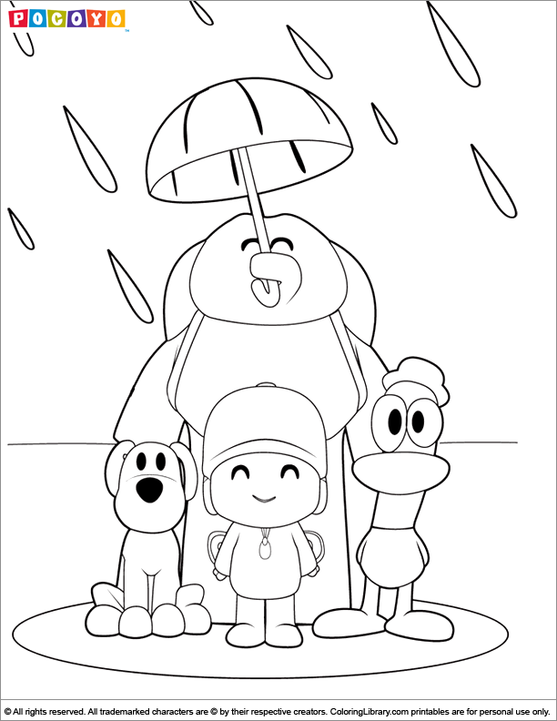 pocoyo coloring page to printprintablecoloring pages