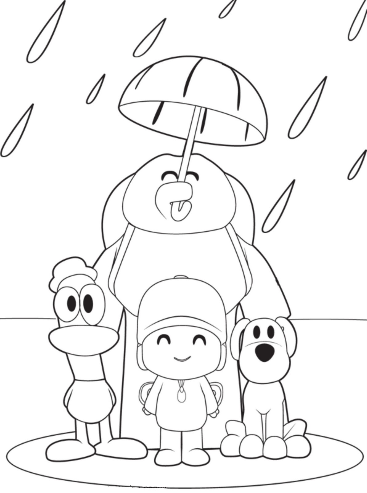 pocoyo coloring pages 11,printable,coloring pages