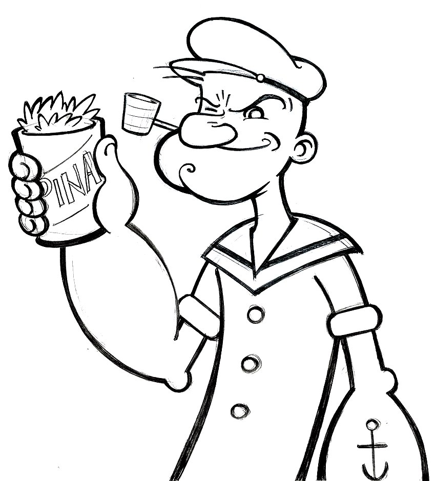 Popeye coloring pages murderthestout for Sweet pea coloring pages