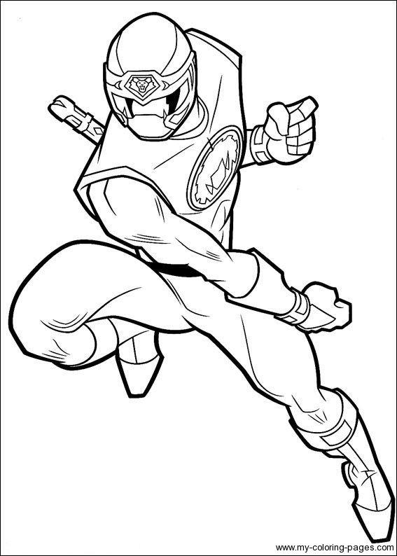 Power Rangers Coloring Page To Printprintablecoloring Pages