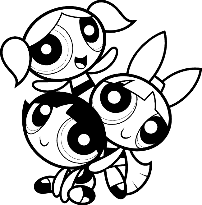 12 printable pictures of powerpuff girls page