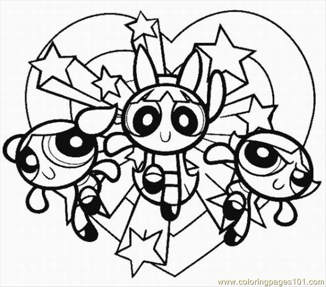 Kids Coloring Pages Powerpuff Girlsprintablecoloring