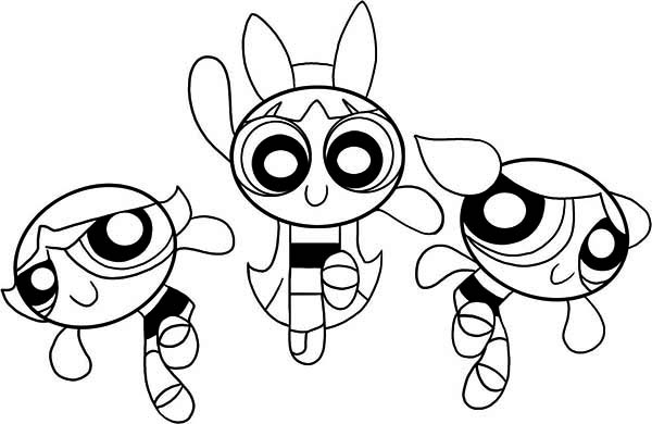 powerpuff-girls coloring pages for kids,printable,coloring pages