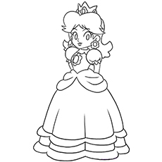 coloring pages of princess-peach,printable,coloring pages