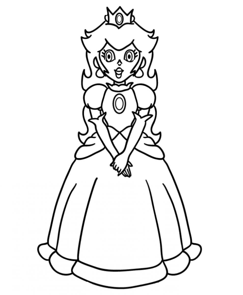 coloring pictures princess-peach,printable,coloring pages