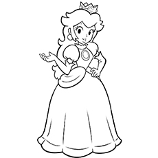 kids coloring pages princess-peach,printable,coloring pages