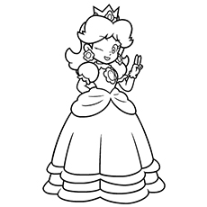 princess-peach coloring page,printable,coloring pages