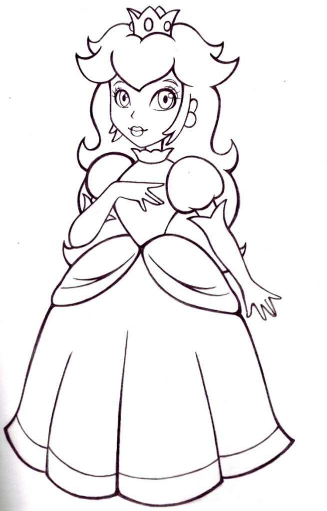 princess-peach coloring page to print,printable,coloring pages