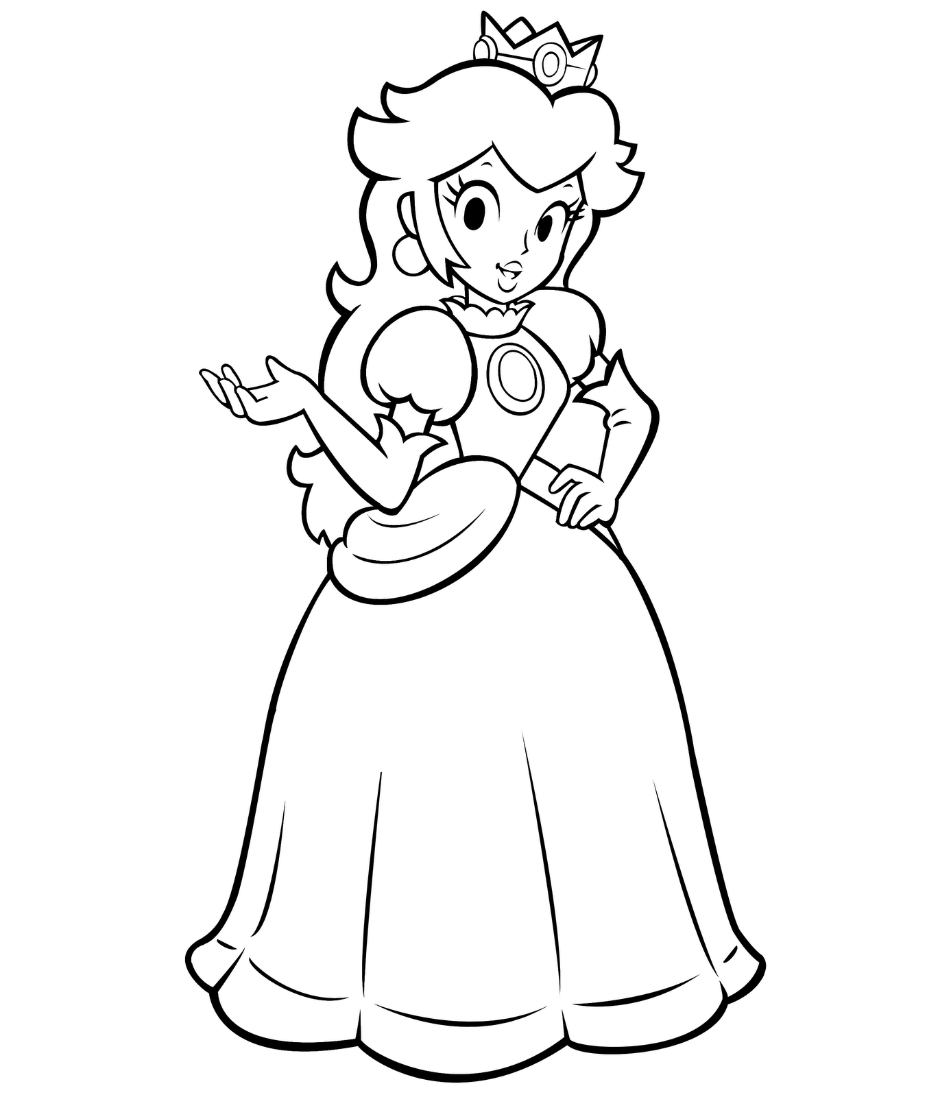 princess-peach coloring pages,printable,coloring pages