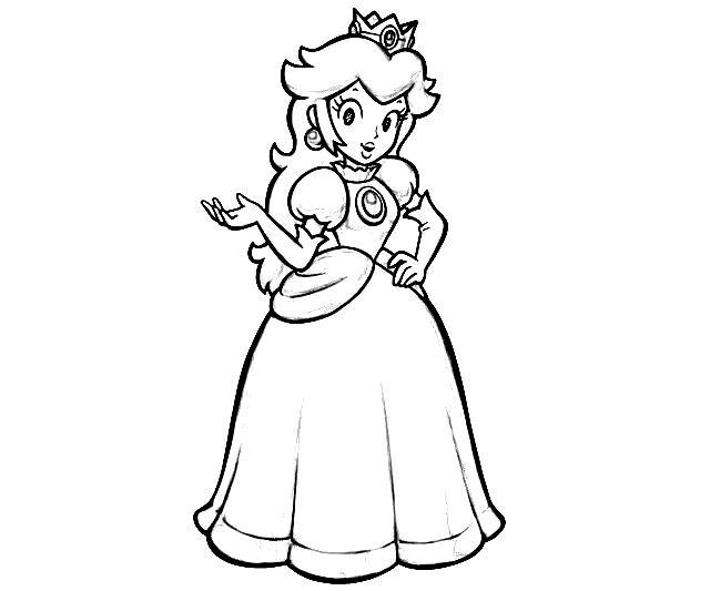 princess-peach coloring pages for kids,printable,coloring pages