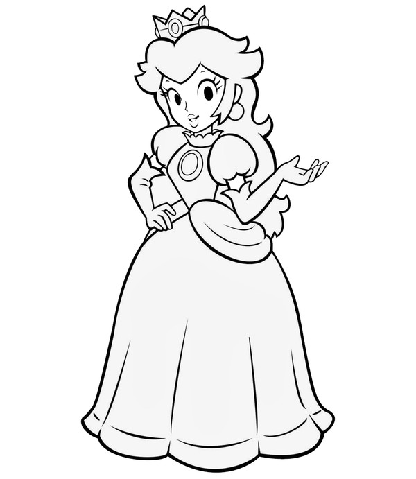 14 Princess Peach Coloring Pages For Kids Print Color Craft