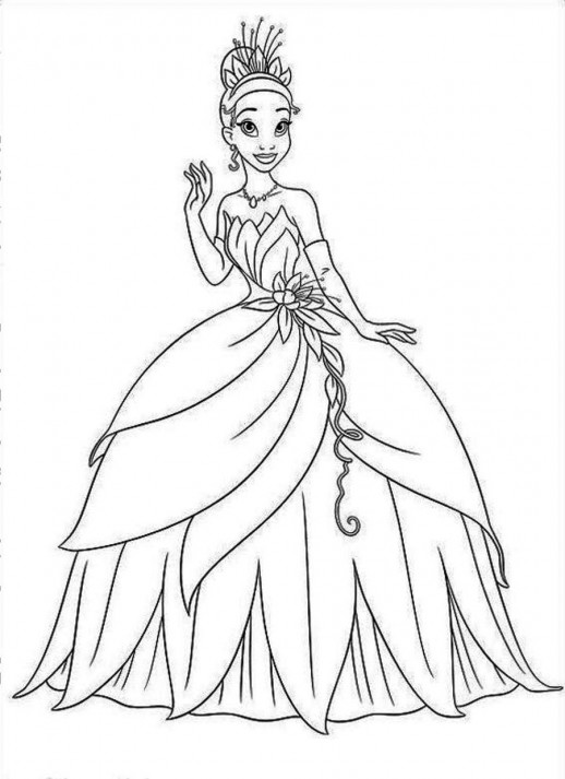 Free Printable Princess Tiana Coloring Pages For Kids | 713x518