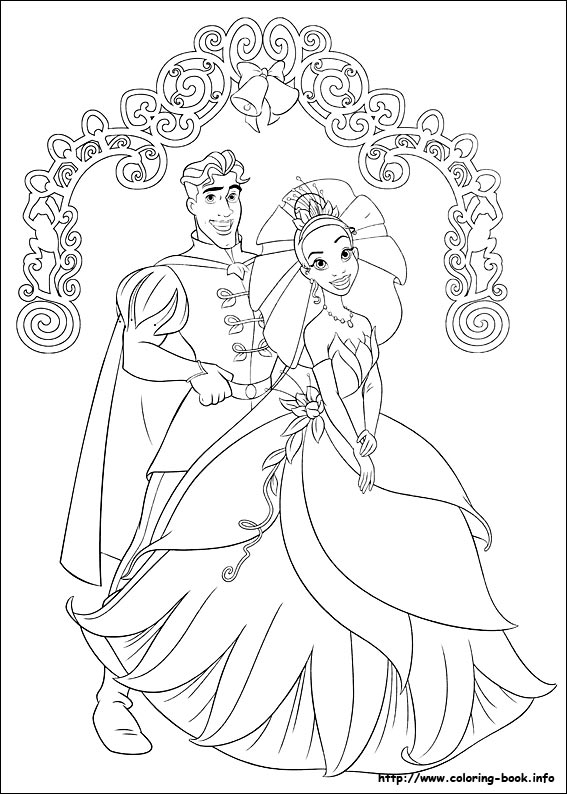 12 Coloring Pages Of Princess Tiana