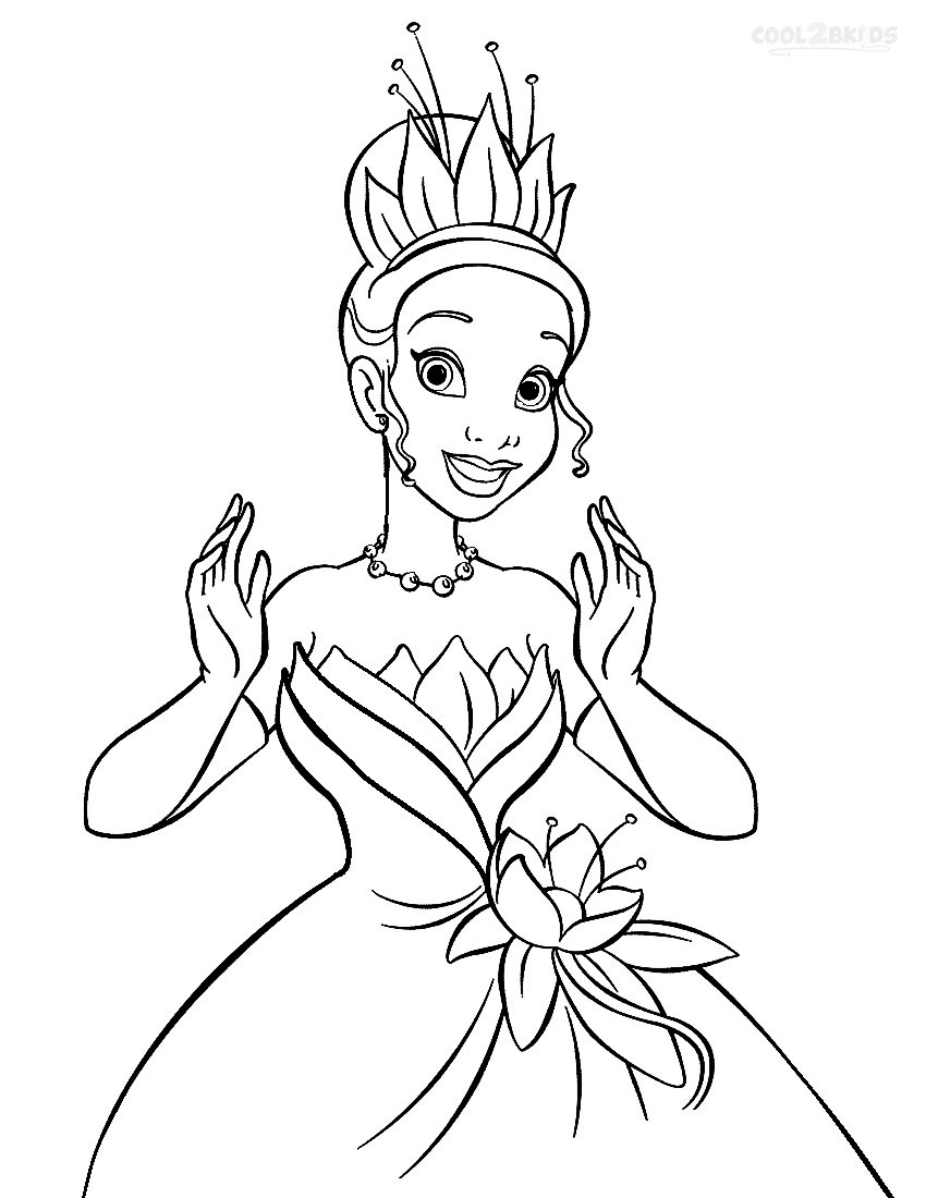 printable princess-tiana coloring pages,printable,coloring pages