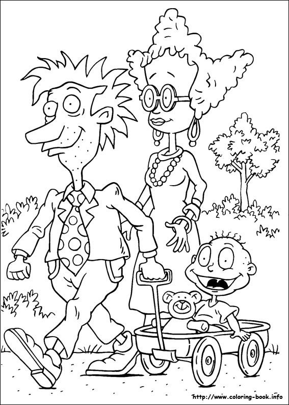 rugrats coloring printable pages - photo#7